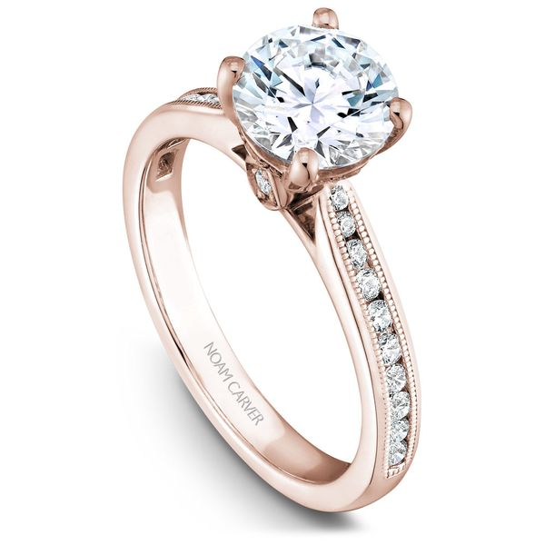 Rose Gold Engagement Ring With 26 Diamonds. Image 2 Barron's Fine Jewelry Snellville, GA