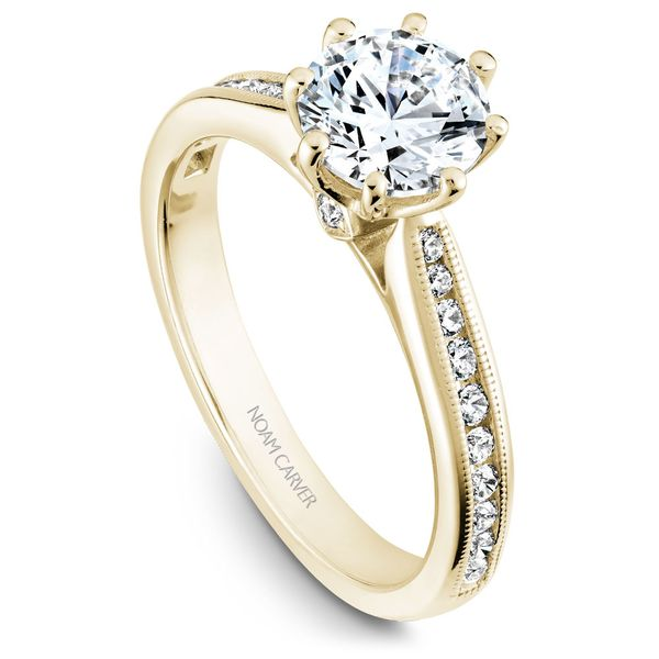 Yellow Gold Engagement Ring With 22 Diamonds. Image 2 Barron's Fine Jewelry Snellville, GA