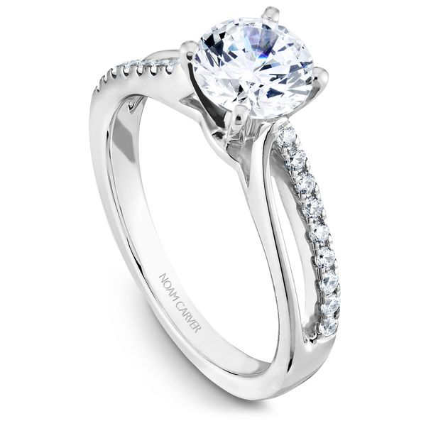 White Gold Engagement Ring With 18 Diamonds. Image 2 Barron's Fine Jewelry Snellville, GA