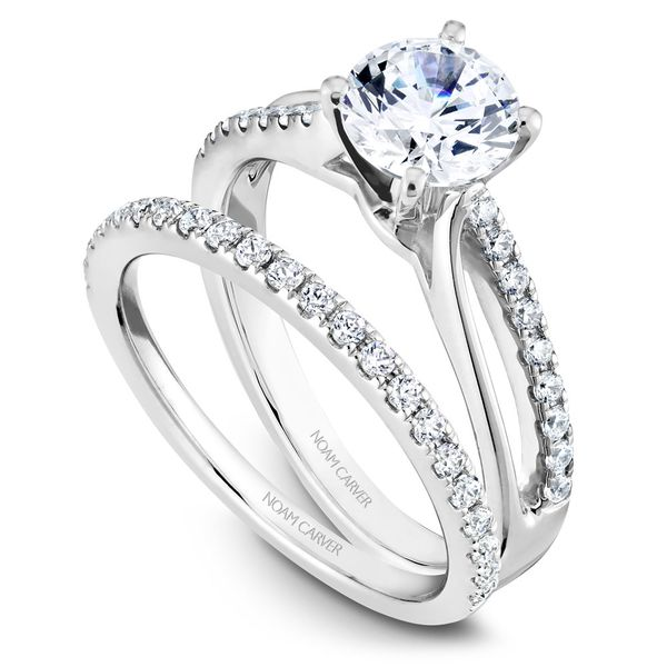 White Gold Engagement Ring With 18 Diamonds. Image 3 Barron's Fine Jewelry Snellville, GA
