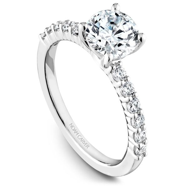 White Gold Engagement Ring With 12 Diamonds. Image 2 Barron's Fine Jewelry Snellville, GA