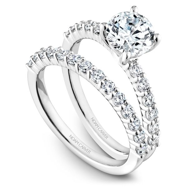 White Gold Engagement Ring With 12 Diamonds. Image 3 Barron's Fine Jewelry Snellville, GA