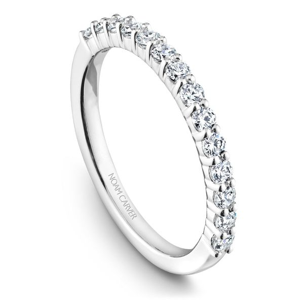 White Gold Engagement Ring With 12 Diamonds. Image 5 Barron's Fine Jewelry Snellville, GA