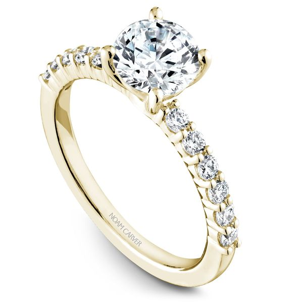 Yellow Gold Engagement Ring With 12 Diamonds. Image 2 Barron's Fine Jewelry Snellville, GA