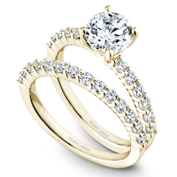 Yellow Gold Engagement Ring With 12 Diamonds. Image 3 Barron's Fine Jewelry Snellville, GA