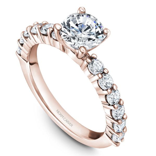 Rose Gold Engagement Ring With 12 Diamonds. Image 2 Barron's Fine Jewelry Snellville, GA