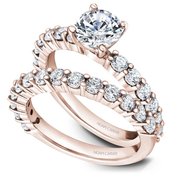 Rose Gold Engagement Ring With 12 Diamonds. Image 3 Barron's Fine Jewelry Snellville, GA