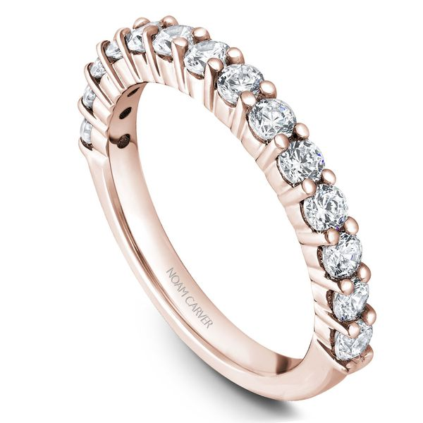 Rose Gold Engagement Ring With 12 Diamonds. Image 5 Barron's Fine Jewelry Snellville, GA
