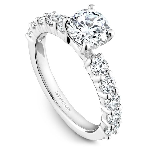 White Gold Engagement Ring With 10 Diamonds. Image 2 Barron's Fine Jewelry Snellville, GA