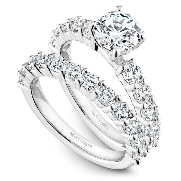 White Gold Engagement Ring With 10 Diamonds. Image 3 Barron's Fine Jewelry Snellville, GA