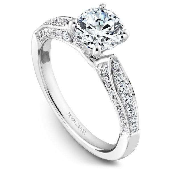 White Gold Engagement Ring With 46 Diamonds. Image 2  ,