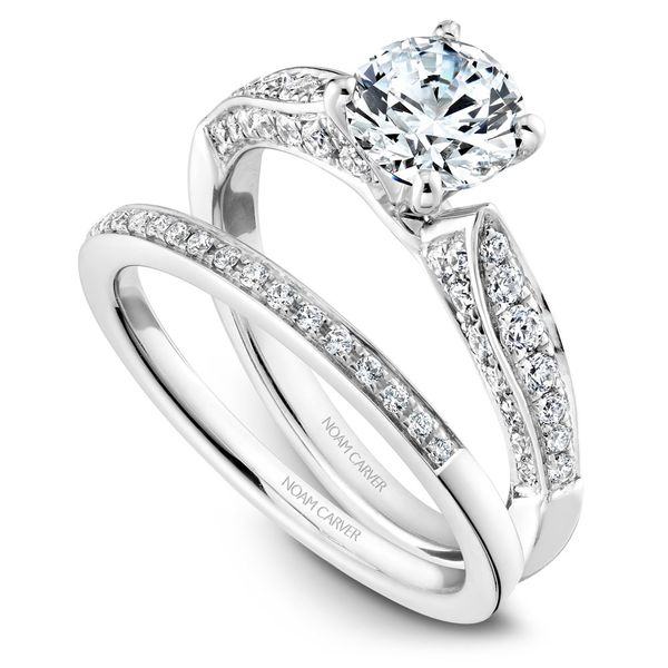 White Gold Engagement Ring With 46 Diamonds. Image 3  ,