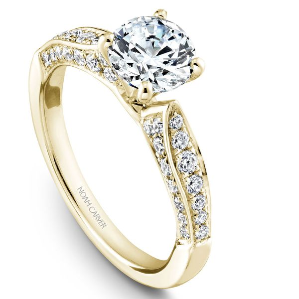 Yellow Gold Engagement Ring With 46 Diamonds. Image 2 Barron's Fine Jewelry Snellville, GA