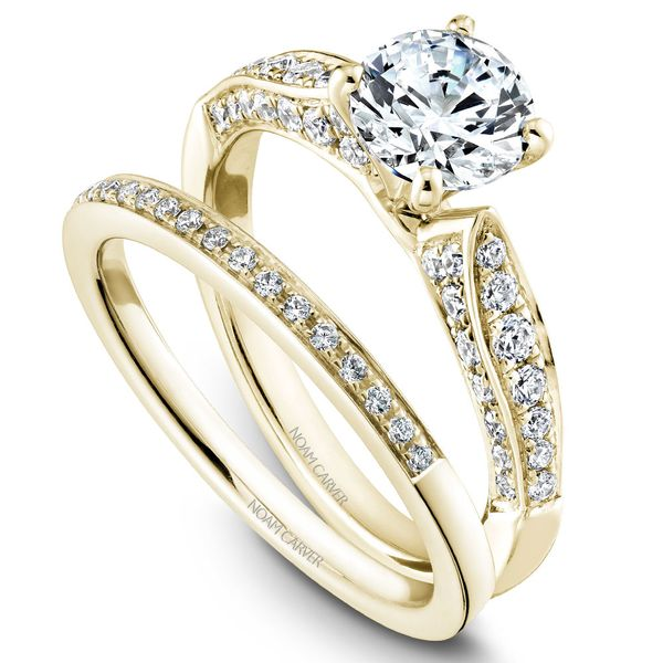 Yellow Gold Engagement Ring With 46 Diamonds. Image 3 Barron's Fine Jewelry Snellville, GA