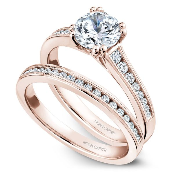 Rose Gold Engagement Ring With 16 Diamonds. Image 3 Barron's Fine Jewelry Snellville, GA