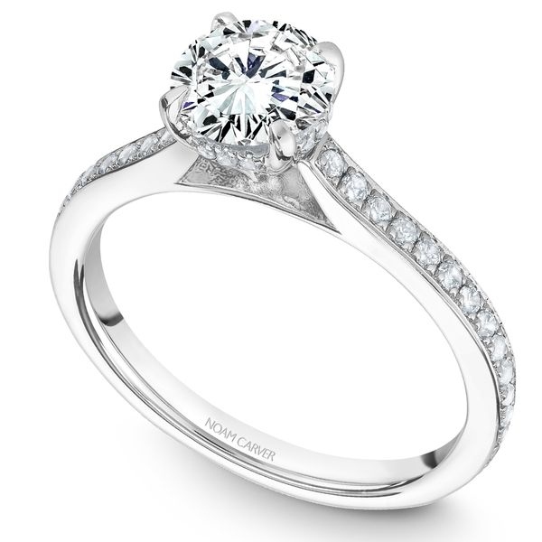 White Gold Engagement Ring With 44 Diamonds. Image 2 Barron's Fine Jewelry Snellville, GA