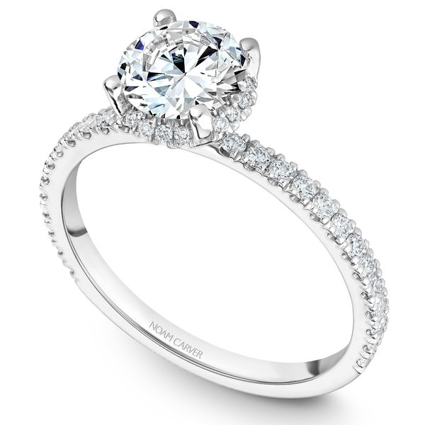 White Gold Engagement Ring With 42 Diamonds. Image 2 Barron's Fine Jewelry Snellville, GA