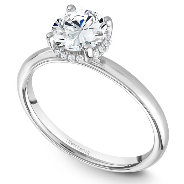 White Gold Engagement Ring With 16 Diamonds. Image 2  ,