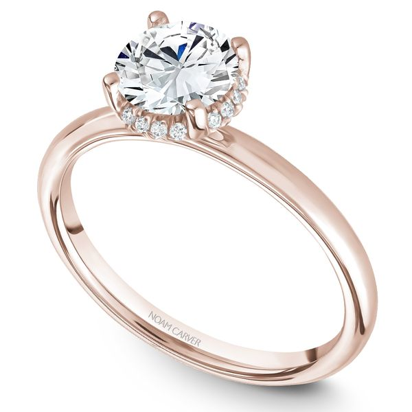 Rose Gold Engagement Ring With 16 Diamonds. Image 2 Barron's Fine Jewelry Snellville, GA