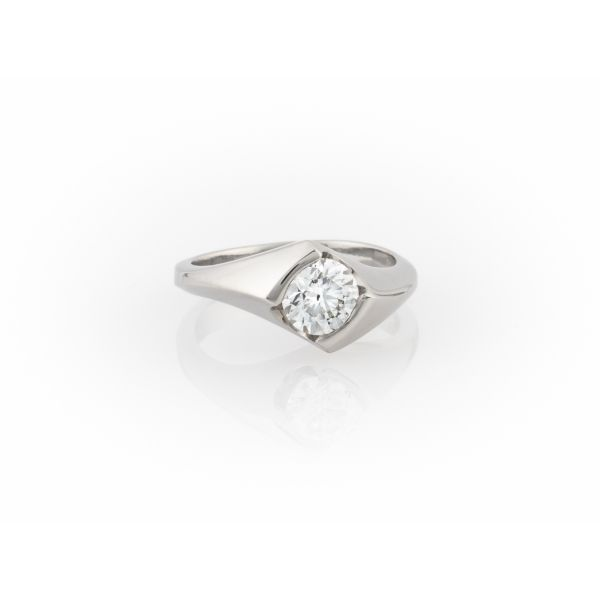 Signature Solitaire Ring Blue Heron Jewelry Company Poulsbo, WA