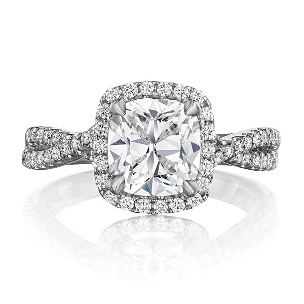 Henri Daussi White Gold Diamond Engagement Ring Bremer Jewelry Peoria, IL