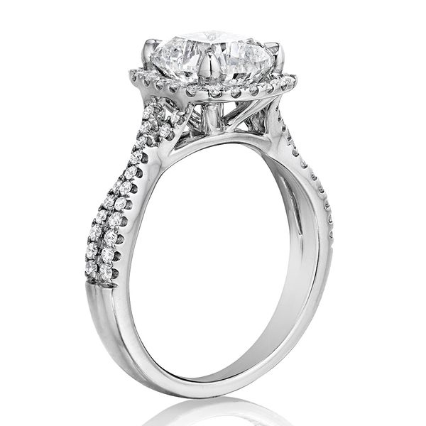 Henri Daussi White Gold Diamond Engagement Ring Image 2 Bremer Jewelry Peoria, IL