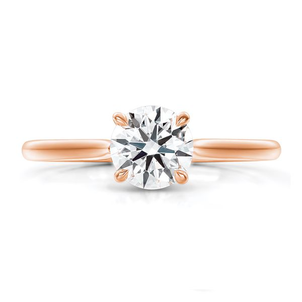 Hearts On Fire Camilla Rose Gold Engagement Ring Setting Bremer Jewelry Peoria, IL