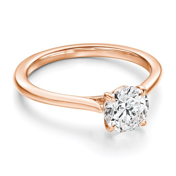 Hearts On Fire Camilla Rose Gold Engagement Ring Setting Image 2 Bremer Jewelry Peoria, IL