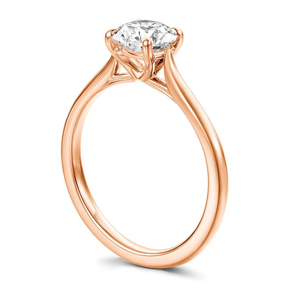 Hearts On Fire Camilla Rose Gold Engagement Ring Setting Image 3 Bremer Jewelry Peoria, IL