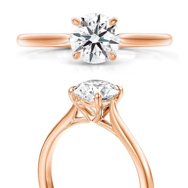 Hearts On Fire Camilla Rose Gold Engagement Ring Setting Image 4 Bremer Jewelry Peoria, IL