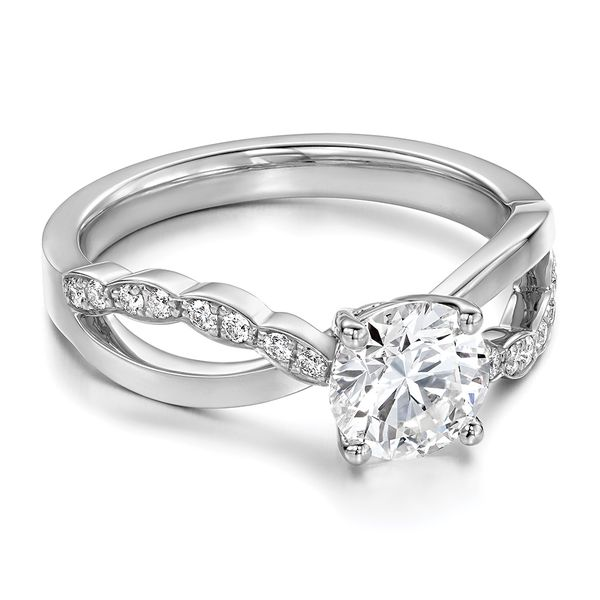 Hearts On Fire Lorelei Floral White Gold Diamond Engagement Ring Setting Image 2 Bremer Jewelry Peoria, IL