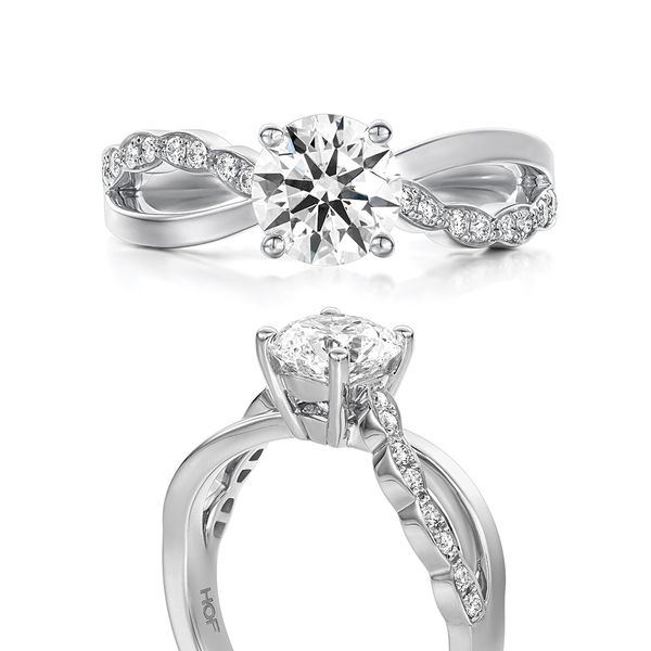 Hearts On Fire Lorelei Floral White Gold Diamond Engagement Ring Setting Image 4 Bremer Jewelry Peoria, IL