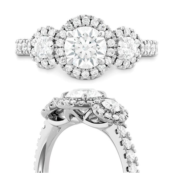 Hearts On Fire Integrity White Gold Diamond Engagement Ring Setting Image 4 Bremer Jewelry Peoria, IL