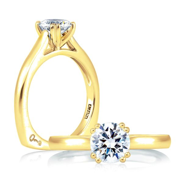 A.JAFFE Classics 14k Yellow Gold Engagement Ring Setting Bremer Jewelry Peoria, IL