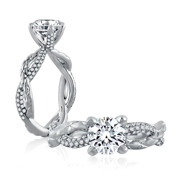 A.JAFFE Metropolitan 14k White Gold Engagement Ring Setting Bremer Jewelry Peoria, IL