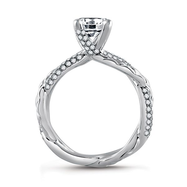 A.JAFFE Metropolitan 14k White Gold Engagement Ring Setting Image 3 Bremer Jewelry Peoria, IL