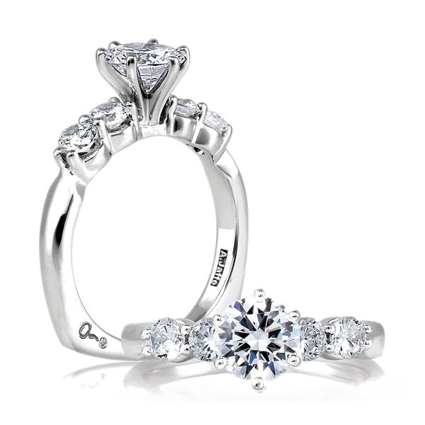 A.JAFFE Classics 14k White Gold Diamond Engagement Ring Setting Bremer Jewelry Peoria, IL