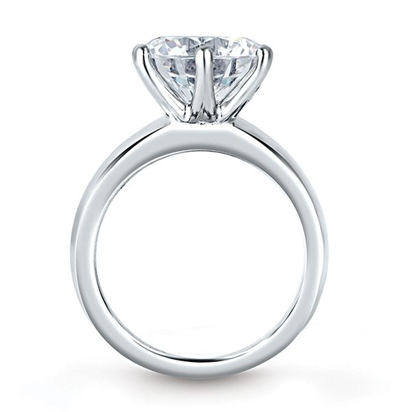 A.JAFFE Knife Edge Solitaire Engagement Ring Setting in White Gold Image 2 Bremer Jewelry Peoria, IL