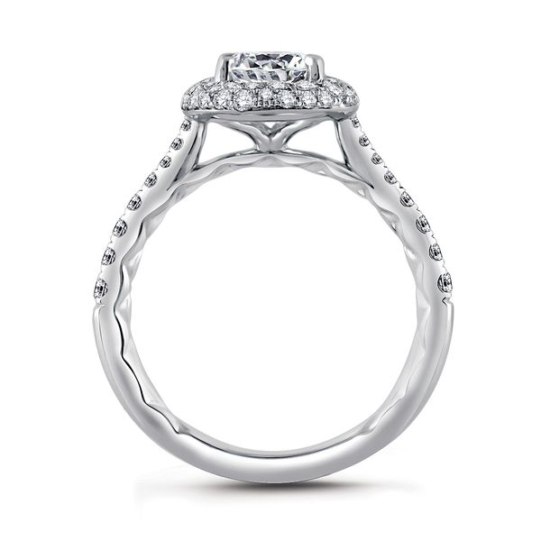 A.JAFFE Seasons Of Love 14k White Gold Diamond Engagement Ring Setting Image 3 Bremer Jewelry Peoria, IL