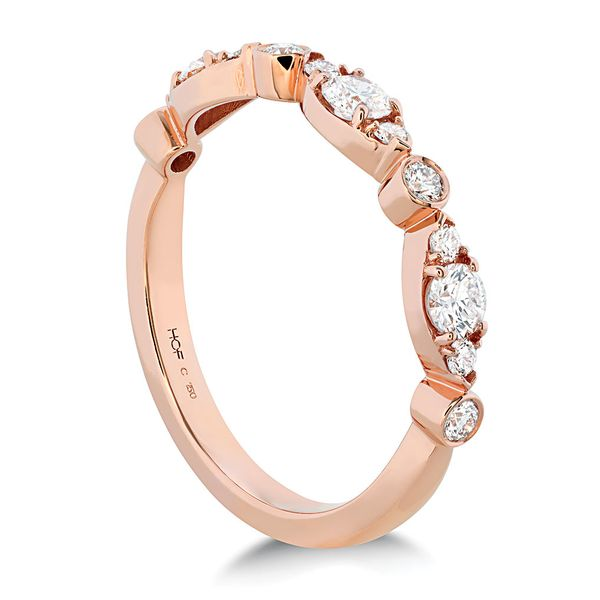Hearts On Fire Bezel Regal Diamond Wedding Ring in Rose Gold Image 3 Bremer Jewelry Peoria, IL