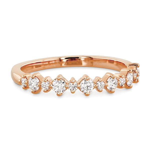 Hearts On Fire Rose Gold Diamond Wedding Band Image 2 Bremer Jewelry Peoria, IL