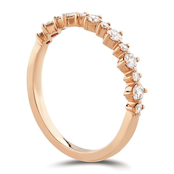 Hearts On Fire Rose Gold Diamond Wedding Band Image 3 Bremer Jewelry Peoria, IL