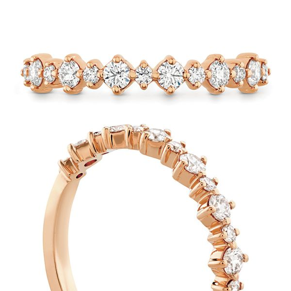 Hearts On Fire Rose Gold Diamond Wedding Band Image 4 Bremer Jewelry Peoria, IL