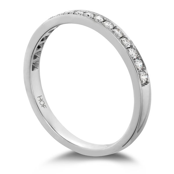 Hearts On Fire Lorelei Straight White Gold Diamond Wedding Band Image 3 Bremer Jewelry Peoria, IL