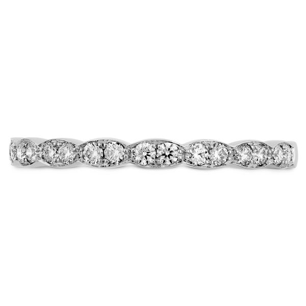 Hearts On Fire Lorelei Floral White Gold Diamond Wedding Band Bremer Jewelry Peoria, IL