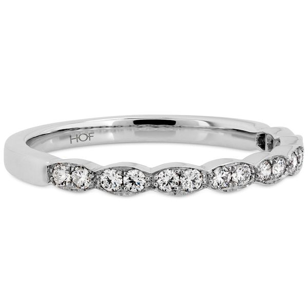 Hearts On Fire Lorelei Floral White Gold Diamond Wedding Band Image 2 Bremer Jewelry Peoria, IL