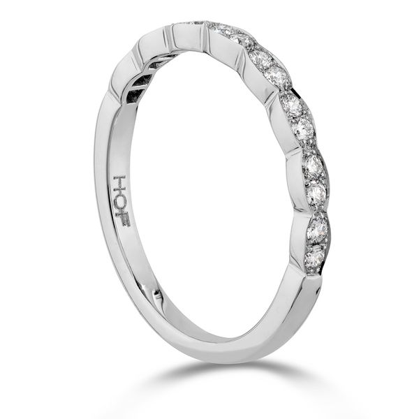 Hearts On Fire Lorelei Floral White Gold Diamond Wedding Band Image 3 Bremer Jewelry Peoria, IL