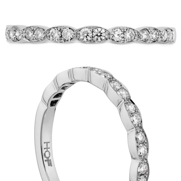 Hearts On Fire Lorelei Floral White Gold Diamond Wedding Band Image 4 Bremer Jewelry Peoria, IL