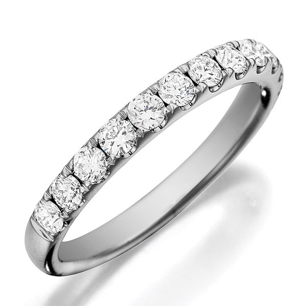 Henri Daussi White Gold Diamond Wedding Band Bremer Jewelry Peoria, IL