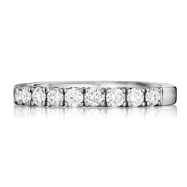 Henri Daussi White Gold Diamond Wedding Band Image 2 Bremer Jewelry Peoria, IL